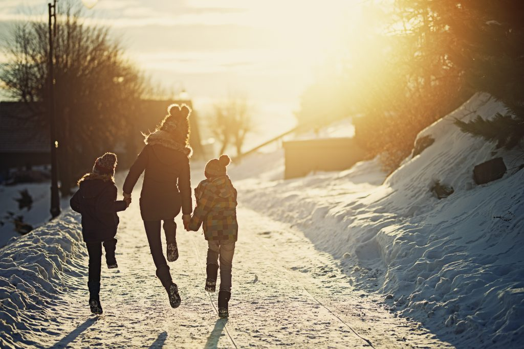 Image if kids enjoying winter