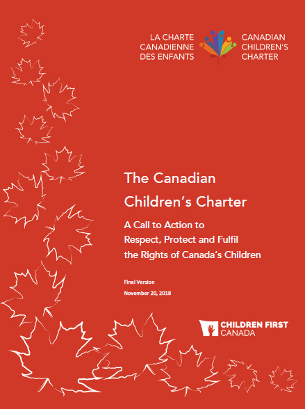 Cover of Canadian Children's Charter PDF